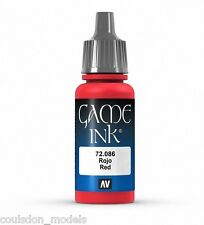 Vallejo GAME COLOR INK - 72.086 Inky ROSSO - 17ml Acrilico Rosso WASH