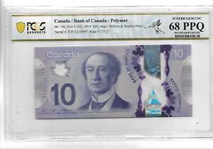 CANADA 2013 10 DOLLARS P#107c PCGS 68 SUPERB GEM UNC PPQ NOT PMG