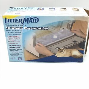 LitterMaid 12 Waste Receptacles LMR200 Disposable  Liners  NEW In Open Box