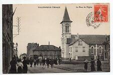 VILLENEUVE ST GEORGES Villeneuve triage Val de Marne CPA 94 la place de l'église