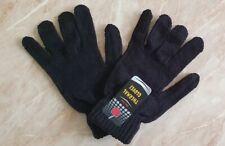 Men's Full Finger Thermal Gloves Knitted Wool Black U.K Seller New.