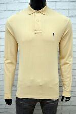 RALPH LAUREN Maglia Polo Uomo Taglia XL Manica Lunga Shirt Man Chemise Casual