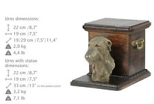 Deerhound, dog urn made of cold cast bronze, ArtDog, Ca - kind2
