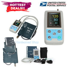 USA 24h Arm NIBP Monitor Care Ambulatory Blood Pressure Monitor ABPM50+3 Cuffs
