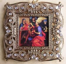 New St. Luke Artist Bible Scripture Author Religious Christmas Ornament