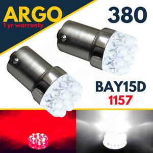 380 1157 Led Brake Light Bulbs Red Bay15d P21/5w Car Stop Tail Light Bulbs 12v