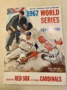 1967 World Series Program Scorecard Boston Red Sox St. Louis Cardinals