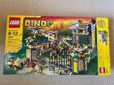 LEGO 5887 DINO Defense HQ 100% COMPLETE with all minifigs, bricks, manuals & box