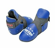 Top Ten Superfight Blue Real Leather Safety Kick Boots Best Foot Spar Protection