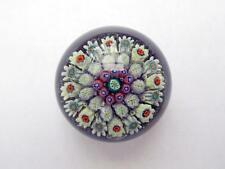 Strathearn Miniature P9 Concentric Millefiori Glass Paperweight with Paper Label