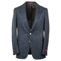 Isaia Spruce Green Woven Melange Wool-Silk-Linen Sport Coat 48R (Eu 58) NWT