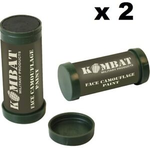 KombatUK Army Military 2 Colour Camo Camouflage Make-Up Face Paint Cream -2 Pack