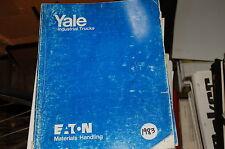 Yale Modello NS Stretto Altare Divaricati Camion Carrello Elevatore Parti Manual
