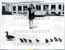 1969 North Holmsted High School Student With Cute Ducks Family Ohio Press Photo