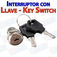 Interruptor ON OFF con llave 1A 220v Key Switch Keylock