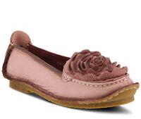 L'Artiste Women's Dezi Pink Leather flats-shoes