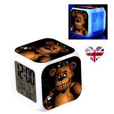 1x Five Nights 7 Color LED Alarm Clock FNAF at Freddy's Kid Birthday Gift