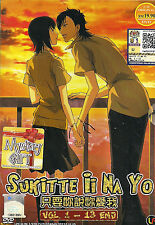 """Sukitte Ii na yo / Say """"I Love You"""" Complete 13 Episodes Anime DVD Eng Subs"""