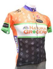Castelli Short Sleeve Road Bike Jersey Men LARGE Orange Natural Grocers Race Fit