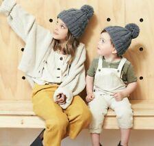 Pom Pom Knit Beanie Hat chicas chicos para Mujer Hombre Regalo De Piel Sintética POM Bobble que empareja