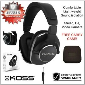 KOSS Pro4S Hi-Fi Studio / Video Camera HEADPHONES +case 3.5mm 35 Ω upto25kHz