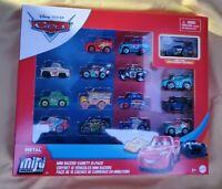 Disney Pixar Cars Mini Racers 15 pack MUDDY MISS FRITTER LIGHTNING MCQUEEN 🚙
