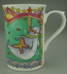 Staffordshire Tableware Kingsbury Carousel Mug Sea Horse Turtle & Dolphin
