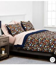 New, Room Essentials, Navy And Flush Floral, Twin XL Bedding Set