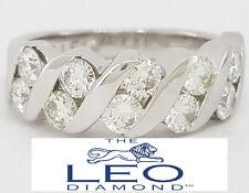 1 ct 14K White Gold The Leo Round Diamond Wedding / Anniversary Ring Rtl $3,300