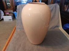 """Pink Peach Ceramic Round Flower Vase 12.25"""" Tall (M)"""