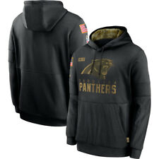 Men's Carolina Panthers Hoodie 2020 Salute to Service Sideline Therma Pullover