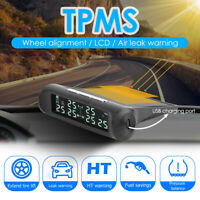 Kabellos Solar Autoreifen Reifendruck TPMS Kontrollsystem + 6 Externe Sensor