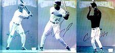 1992 Lime Rock Ken Griffey Jr Sr Craig Family Hologram Card Set Baseball