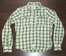 ABERCROMBIE & FITCH Muscle FLANNEL Button Dress Shirt Men's MEDIUM M Plaid Check