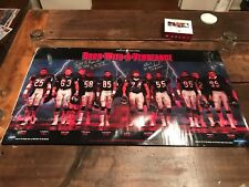 RARE Chicago Bears SIGNED Poster Back With A Vengeance 1987 AUTOGRAPHED Vintage