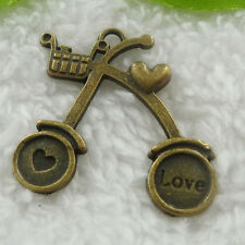 Free Ship 56 pieces bronze plated bike charms pendant 35x32mm #720