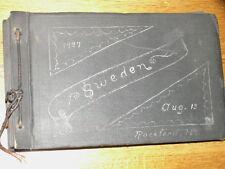 1927 antique old family photo album pictures postcards Sweden trip black white