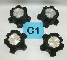 82-94 S15 Sonoma Jimmy Wheel Black Center Hub Caps SET OF 4 14035565  #C1