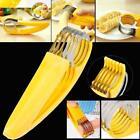 Banana Slicer Fruit Knife Kitchen Gadget Bar Tools Veggie Cutter Stainless Steel