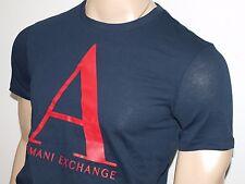 Armani Exchange Authentic AX Signature Logo T Shirt Navy NWT