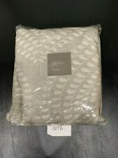 Restoration Hardware Palmette Embroidered Linen Shower Curtain Fog/Mist x-long