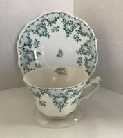 Johnson Brothers Cloverly Royal Semi-Porcelain Hand Painted Tea Cup & Saucer