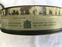 Vintage 1995 Candy Tin Old English Confectionery Suppliers To King George VI