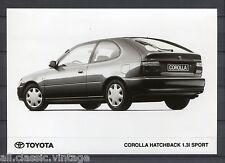 PRESS - FOTO/PHOTO/PICTURE - Toyota Corolla Hatchback 1.3i Sport