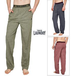 Tokyo Laundry Mens Ruskin Comfy Cotton Blend Pyjama Bottom Lounge Pants