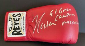 "Julio Cesar Chavez Signed ""El Gran Campeon Mexicano"" Boxing Glove JSA WP569560"