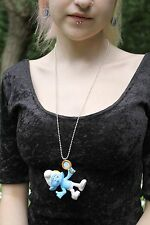SMURF PEYO RENEWAL 3D KITCH DIY EMO NECKLACE PASTEL GOTH BUBBLE KAWAII