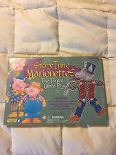 NEW STORY TIME MARIONETTES THE THREE LITTLE PIGS & WOLF EDUCATIONAL INSIGHTS!