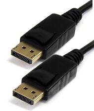 2m Display Port Cordon HD DP Cable Ecran Moniteur têtes de verrouillage sécurisé