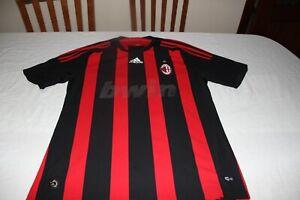 T-Shirt Calcio Vintage AC Milan Marca Adidas Taglia M Pubblicità Bwin Quitada M
